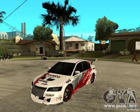 Lancer Evolution VIII, los estadounidenses inter para GTA San Andreas