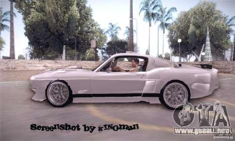 Shelby GT500 para GTA San Andreas left