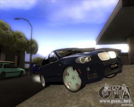 BMW X5 dubstore para la vista superior GTA San Andreas