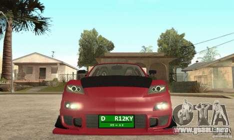 Encendido y apagado del motor y los faros para GTA San Andreas segunda pantalla