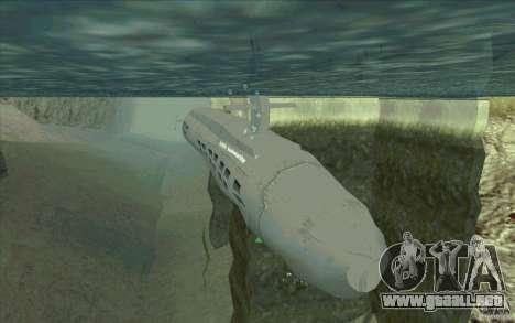 USS Submarine Beta para GTA San Andreas
