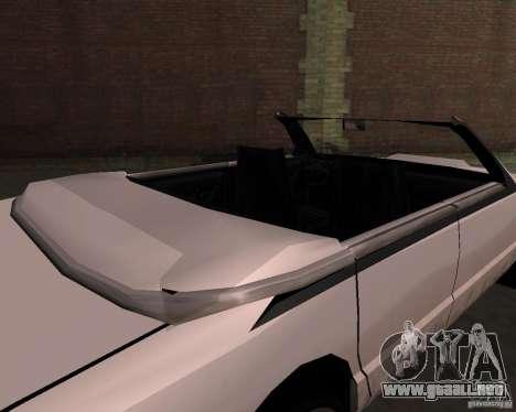 Taxi Cabrio para la visión correcta GTA San Andreas