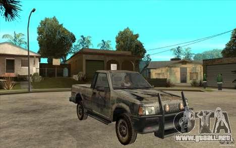 Rusty Mazda Pickup para GTA San Andreas vista hacia atrás