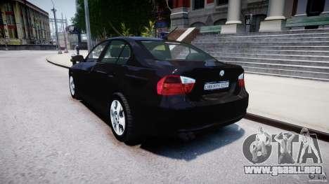 BMW 3-Series Unmarked [ELS] para GTA 4 Vista posterior izquierda