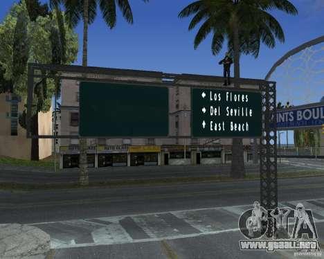 Carretera signos v1.0 para GTA San Andreas sucesivamente de pantalla