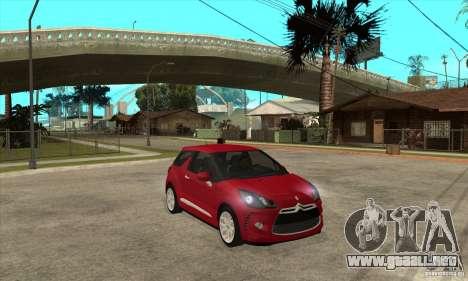 Citroen DS3 2010 para GTA San Andreas vista hacia atrás