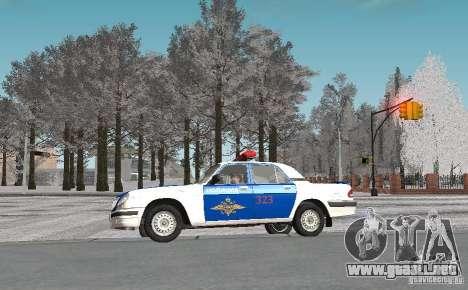 Gaz-31105 VOLGA DPS v2.0 para visión interna GTA San Andreas