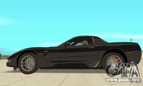 Chevrolet Corvette 5 para GTA San Andreas vista posterior izquierda