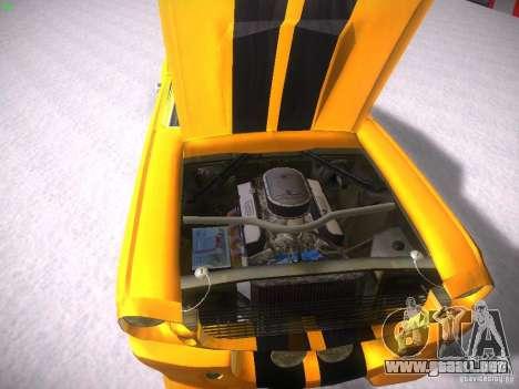 Shelby GT500 Eleanor para visión interna GTA San Andreas