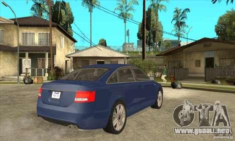Audi S6 Limousine V1.1 para la visión correcta GTA San Andreas