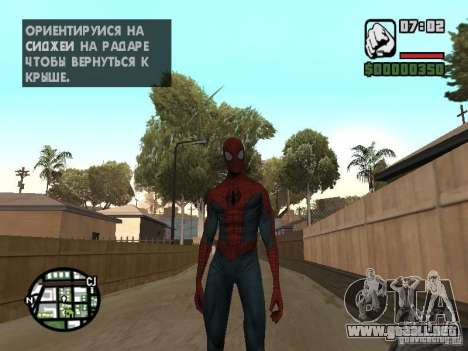 Spider-man 2099 para GTA San Andreas segunda pantalla