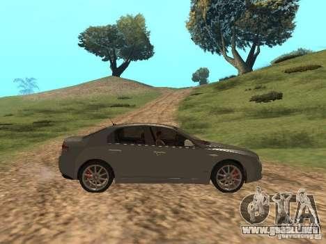 Alfa Romeo 159Ti para GTA San Andreas vista hacia atrás