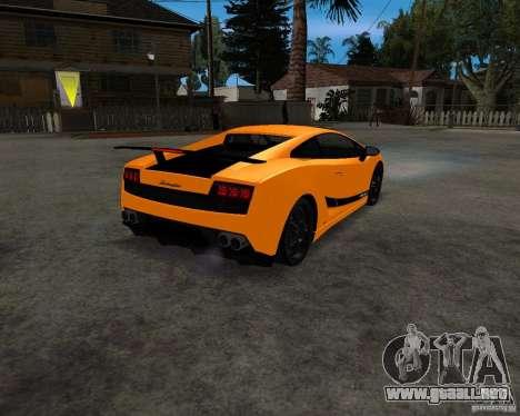 Lamborghini Gallardo LP570 Superleggera para la visión correcta GTA San Andreas