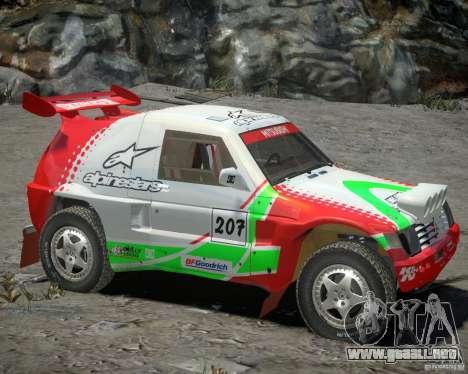 Mitsubishi Pajero Proto Dakar EK86 vinilo 2 para GTA 4 left