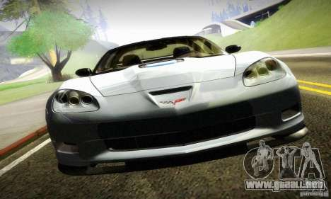 Chevrolet Corvette ZR-1 para GTA San Andreas vista posterior izquierda