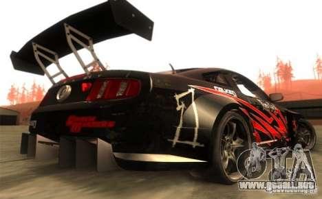 Ford Mustang Shelby GT500 V1.0 para la visión correcta GTA San Andreas