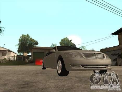 Mercedes-Benz Pullman (w221) SE para visión interna GTA San Andreas