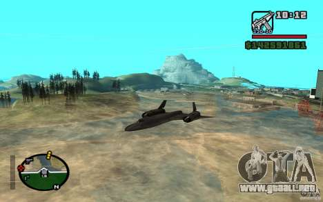SR-71 Blackbird para GTA San Andreas left