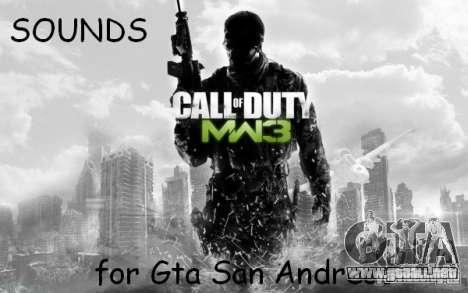 Arma sonido de CoD MW3 para GTA San Andreas