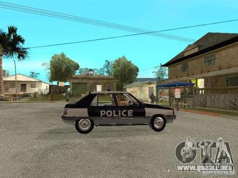 Renault 11 Police para la visión correcta GTA San Andreas