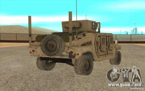 Hummer H1 Military HumVee para GTA San Andreas left