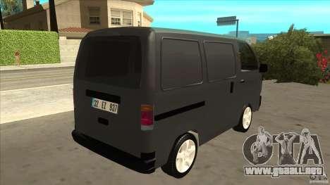 Suzuki Carry Blind Van 1.3 1998 para la visión correcta GTA San Andreas