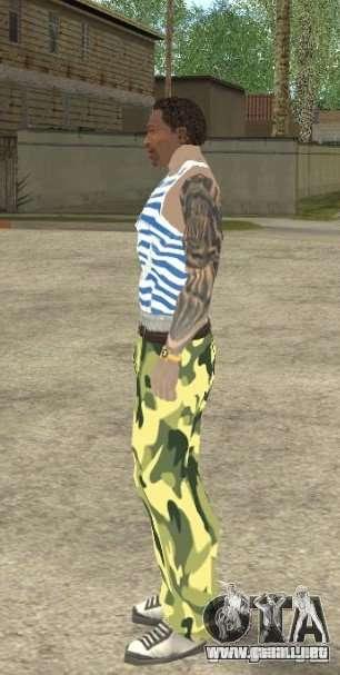 CJ VDV para GTA San Andreas quinta pantalla