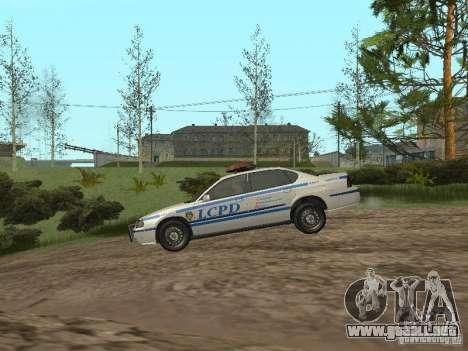 Policía de GTA 4 para GTA San Andreas vista posterior izquierda