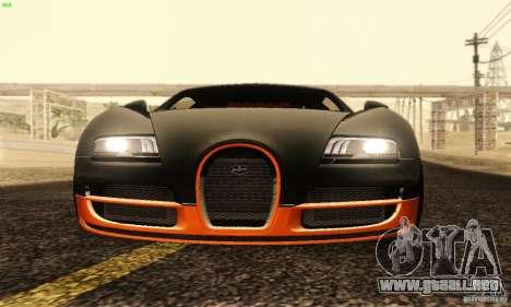 Bugatti Veyron SuperSport para la vista superior GTA San Andreas