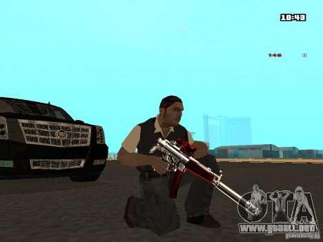 White Red Gun para GTA San Andreas sucesivamente de pantalla
