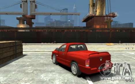 Dodge Ram SRT-10 v.1.0 para GTA 4 Vista posterior izquierda