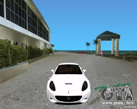 Ferrari California para GTA Vice City vista lateral izquierdo