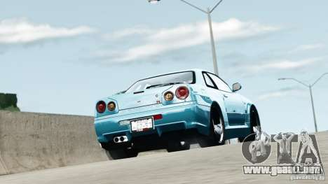 Nissan Skyline GT-R (R34) Stance para GTA 4 left