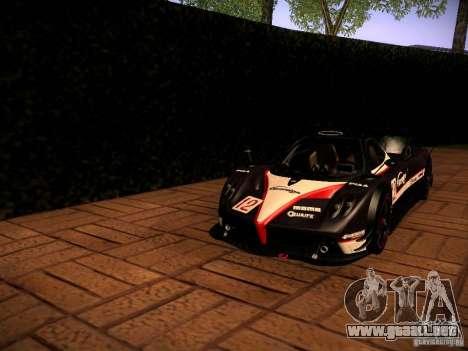 Pagani Zonda R para vista lateral GTA San Andreas