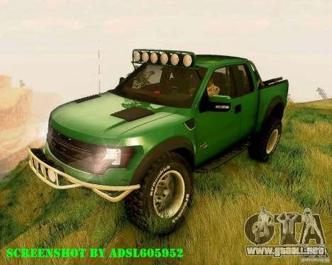 Ford F150 2011 SVT RapTor para GTA San Andreas
