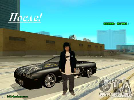 Ropa con Victor Coem para GTA San Andreas segunda pantalla