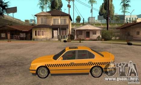 BMW E34 535i Taxi para GTA San Andreas left