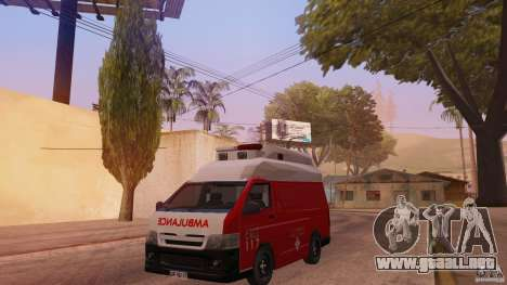 Toyota Hiace Philippines Red Cross Ambulance para GTA San Andreas
