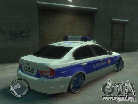 BMW 320i Police para GTA 4 visión correcta