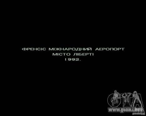 Ukraïnizator 2.0 para GTA San Andreas tercera pantalla