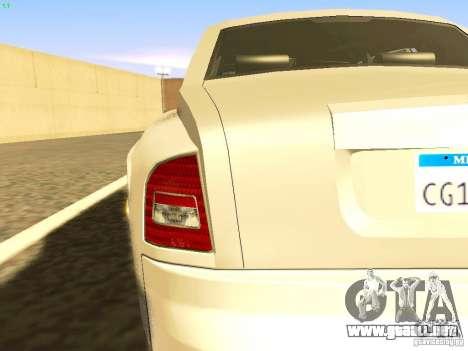 Rolls-Royce Phantom V16 para la vista superior GTA San Andreas