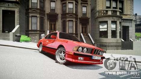 BMW M6 v1 1985 para GTA 4 vista hacia atrás
