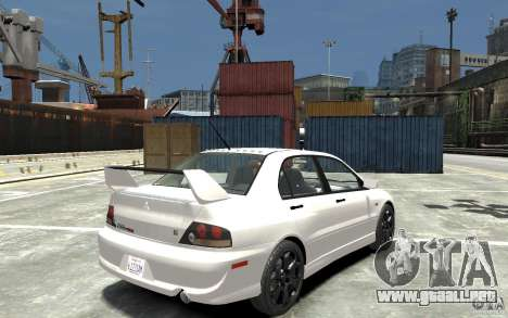 Mitsubishi Lancer Evolution IX 2010 para GTA 4 visión correcta