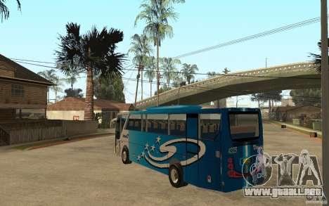 Hino New Travego V.Damri para GTA San Andreas vista posterior izquierda