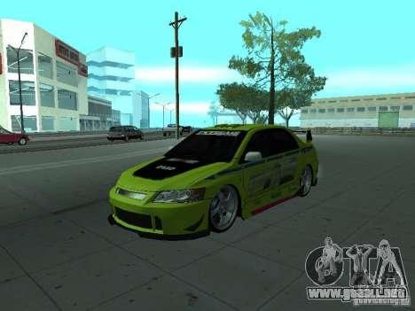 Mitsubishi Lancer Evolution 8 para las ruedas de GTA San Andreas