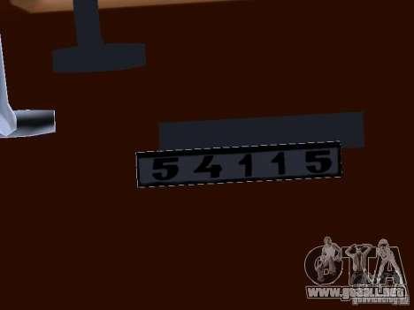 KAMAZ 54115 camión para visión interna GTA San Andreas