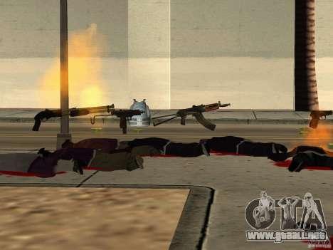 Armas nacional-versión 1.5 para GTA San Andreas décimo de pantalla
