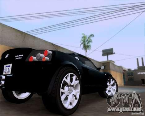 Vauxhall VX220 Turbo para GTA San Andreas vista hacia atrás