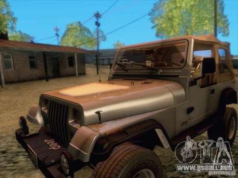 Jeep Wrangler 1994 para GTA San Andreas left