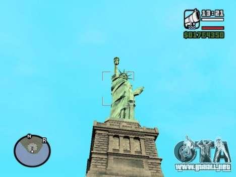 La estatua de la libertad para GTA San Andreas